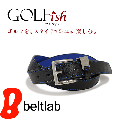 【GOLFish -ゴルフィッシュ-】ロゴ入りのベルトループがゴルフウェアにアクセント。イタリアのスポーツカジュアルブランド「SERGIO TACCHINI(セルジオ・タッキーニ)」より、ゴルフをスタイリッシュに楽しむメンズベルト。「BL-GI-0026」