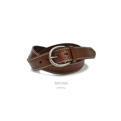 ロングサイズのベルト 2色のステッチとパンチング メンズ カジュアルベルト|大きいサイズ|Long Long