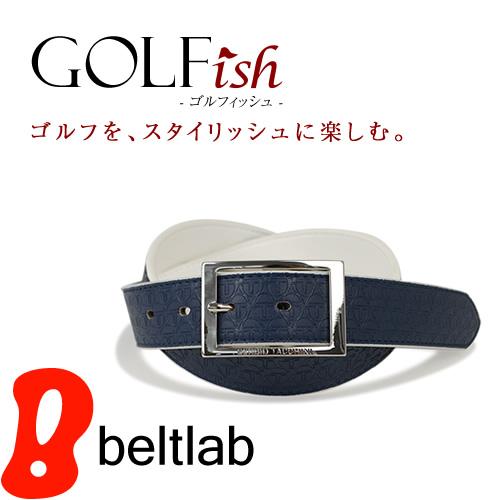【GOLFish -ゴルフィッシュ-】ブランドロゴの型押しがゴルフウェアにアクセント。イタリアのスポーツカジュアルブランド「SERGIO TACCHINI(セルジオ・タッキーニ)」より、ゴルフをスタイリッシュに楽しむメンズベルト。「BL-GI-0027」