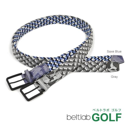 ゴルフ ベルト メンズ ゴルフウェア スポーツウェア ゴルフにおすすめ 伸縮するゴム素材でほどよくフィット。グラデーションのメッシュ編み込みに、カモフラ柄がアクセント