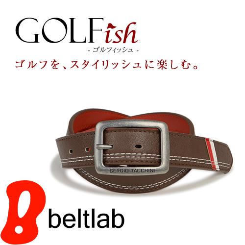 【GOLFish -ゴルフィッシュ-】トリコルールでゴルフウェアにアクセント。イタリアのスポーツカジュアルブランド「SERGIO TACCHINI(セルジオ・タッキーニ)」より、ゴルフをスタイリッシュに楽しむメンズベルト。「BL-GI-0028」