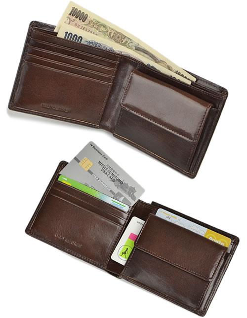 【財布 メンズ レディース 三つ折り財布】上質なイタリアンレザーの、小さなお財布。普段使いにもビジネスやフォーマルにも使える、シンプルデザイン。本革 牛革 ギフト プレゼント