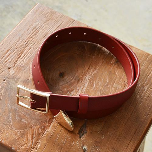 ベルト レディース カジュアル 本革 牛革 couleur クルール すっきりシンプルきちんと感、シャンパンゴールドのバックル