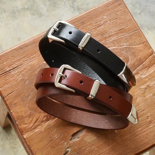 ベルト レディース カジュアル 本革 牛革 couleur クルール すっきりシンプルきちんと感、きれいなシルバーカラーのバックル