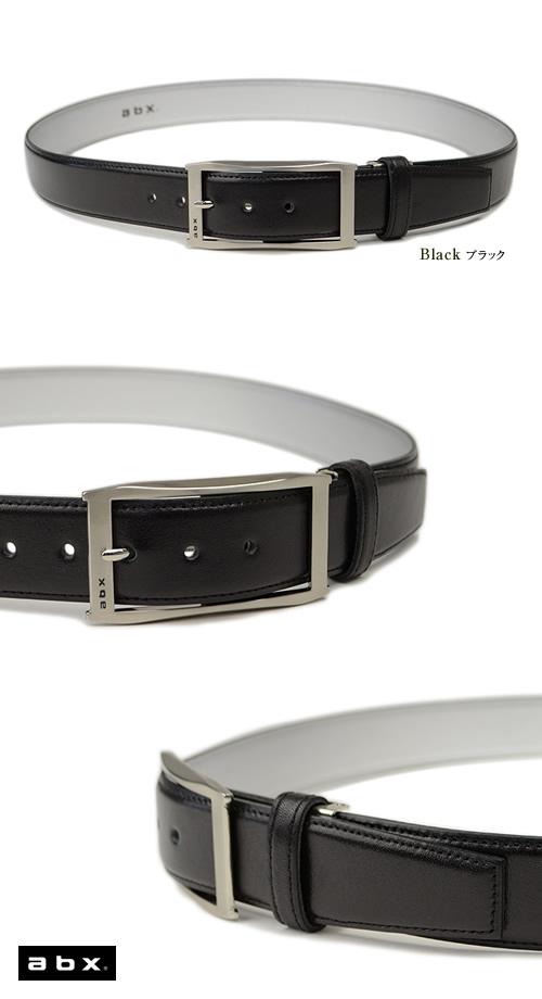 【送料無料 ベルト 日本製】abx エービーエックス ビジネスベルト メンズ 牛革 本革 BL-BB-0166