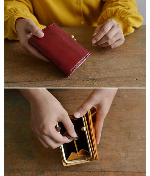【財布 レディース 二つ折り がま口 イタリアンレザー】カジュアルにもビジネスでも がま口財布 上質なイタリア牛革で品ある佇まい 女性におすすめ 本革財布 ウォレット ギフト プレゼント