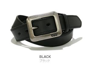 『Levi's -リーバイス-』35mm幅に四角いギャリソンバックル、ステッチをあしらった定番ベーシックデザイン、こだわり牛革のレザーベルト