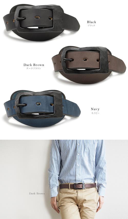 【送料無料 ベルト 日本製】ベルト専門店『 Nippon de Handmade 』3.5cm幅のウィニー社ベンズレザーに真鍮ギャリソンバックル、日本で革職人さんがベルト1本1本手作り、メンズ、レディースにこだわり牛革を楽しむ本革ベルト MEN'S Belt LADY'S Belt