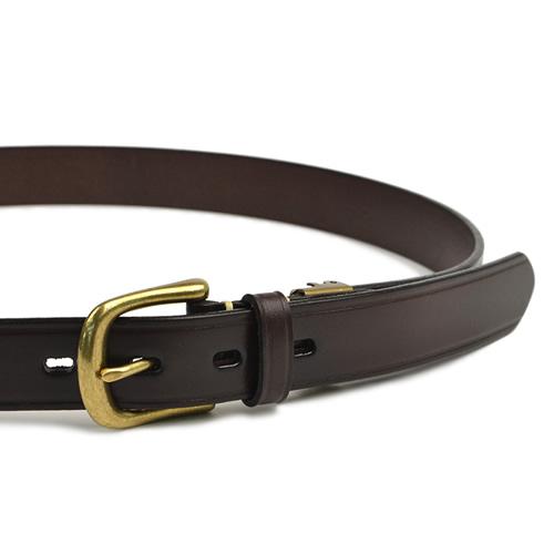 ベルト メンズ レディース カジュアル UNIVERSAL OVERALL ユニバーサルオーバーオール 本革 牛革 サイドにライン型押しのすっきりデザイン