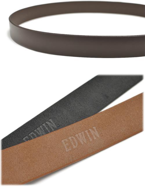 『EDWIN エドウィン』ベルト メンズ 大きいサイズ ロングサイズ 牛革 レザー しっかり幅 ギャリソンバックル シンプル ベーシック 40mm 40ミリ 4cm 幅 レザーベルト カジュアルベルト レザー デニム ジーンズ チノパン に ブラック/ダークブラウン/ブラウン belt mens