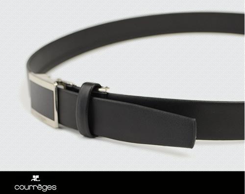 【送料無料 ビジネスベルト メンズ 無双】 courreges [クレージュ] 高級感のある千鳥無双のビジネスベルト