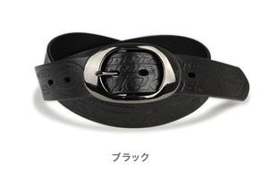 【Dickies ディッキーズ ベルト】送料無料 ディッキーズ dickiesのロゴが型押しされたレザーベルト。本革ベルトにブラックニッケルのオーバルバックルを合わせました。 メンズ レディース ロングサイズ