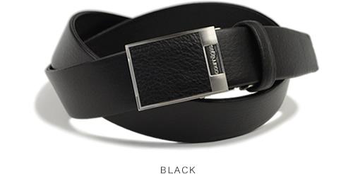 【送料無料 ビジネスベルト メンズ 日本製】 courreges [クレージュ]縫い返し仕上げのビジネスベルト