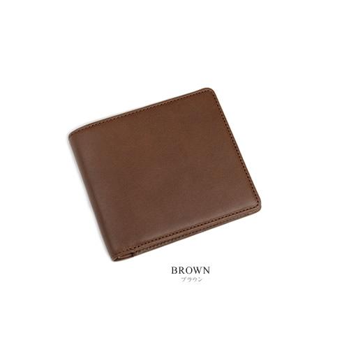 【財布 メンズ 二つ折り 日本製 送料無料】『 Nippon de Handmade 』牛革のしっとり味わい深い素材感、ビジネス スタイルに上品なシンプルデザイン、日本で職人さんが財布ひとつひとつハンドメイド、じっくり「革」を楽しんでいただける牛革財布 革財布 本革
