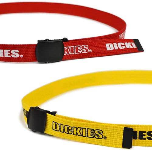 【Dickies ディッキーズ ベルト】ロゴマークがアクセント ガチャベルト ロゴテープ ファブリックベルト カジュアル ストリート メンズ レディース 紳士 垂らしベルト 垂らす ロゴフォント 生地 90S