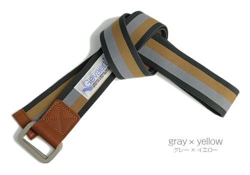 【送料無料 ゲバルト ベルト GEVAERT BANDWEVERIJ】「ゲバルトもいっぱい選べるベルト専門店」派手すぎないシックなカラー、ボーダーデザインのダブルリングベルトです。カジュアル メンズ、レディース