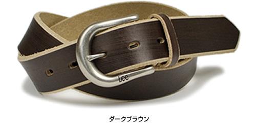 【Lee リー ベルト】カジュアルベルト 35mm幅 削りを入れたコバ部分とのコントラストが面白い レザーベルト 革ベルト メンズ レディース 本革 レザー