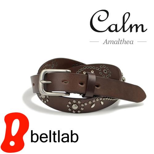 【ベルト スタッズベルト】『 Calm -Amalthea- 』 きらめく花模様のスタッズベルト カジュアルベルト メンズ レディース 本革ベルト 牛革ベルト デニム Belt ギフト