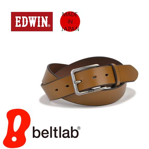 EDWIN エドウィン ベルト メンズ カジュアル 牛革 レザー 日本製 シンプル ベーシック ハーネスバックル デニム ジーンズ チノパン に 3.5cm幅