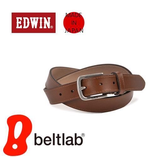 EDWIN エドウィン ベルト メンズ レディース カジュアル 牛革 レザー 日本製 シンプル ベーシック ハーネスバックル デニム ジーンズ チノパン に 3cm幅