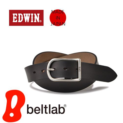 EDWIN エドウィン ベルト メンズ カジュアル 牛革 レザー 日本製 ギャリソンバックル デニム ジーンズ チノパン に 3.5cm幅
