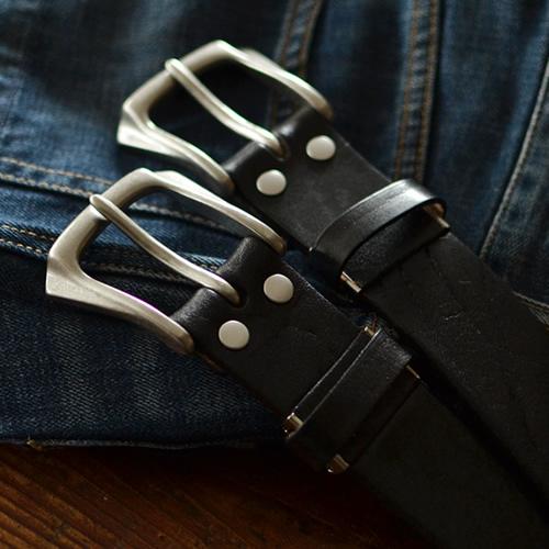 【ベルト 日本製 栃木レザー 送料無料】『 Nippon de Handmade 』ショルダーレザーの迫力ある存在感、栃木レザーに骨太 バックル、日本で職人さんがベルト1本1本手作り、革を楽しんでいただける カジュアルベルト ベルト メンズ レディース 本革ベルト 紳士 Belt ギフト