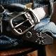 【ベルト スタッズベルト 送料無料】『 Calm -Capella- 』 スタッズ ストーン ハトメをデザイン、しっかり牛革に馬蹄型 バックル のスタッズベルト カジュアルベルト メンズ レディース 本革ベルト 牛革ベルト デニム Belt ギフト