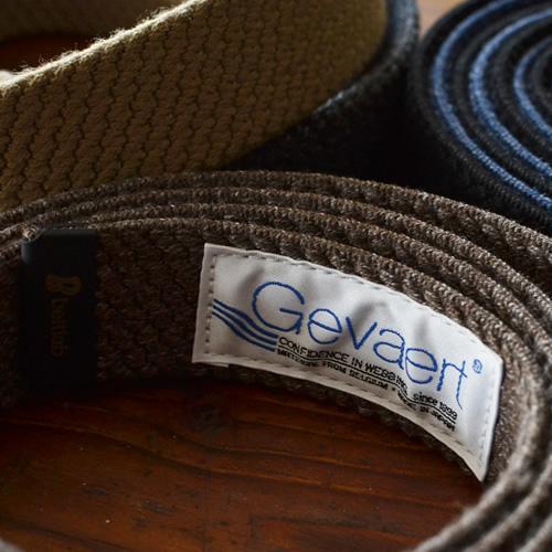GEVAERT ゲバルト ガチャベルト メンズ レディース 快適なゴムベルト マットな黒いバックルに3cm幅のスマートなベルトを合わせたスタイリッシュなデザイン のびるからしっかりフィット お腹らくらく アウトドアにもおすすめ|日本製|送料無料