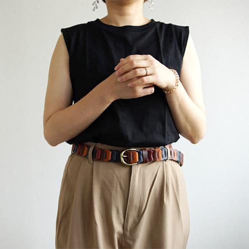 ベルトラボ beltlab 日本製『 Nippon de Handmade 』日本で職人さんが手作り 男性にも女性にもおすすめのメッシュベルト、革のパーツをつなげて作りました。心地いい伸縮性 メッシュベルト メンズ レディース 牛革ベルト カジュアルベルト プレゼント ギフト 幅3cm