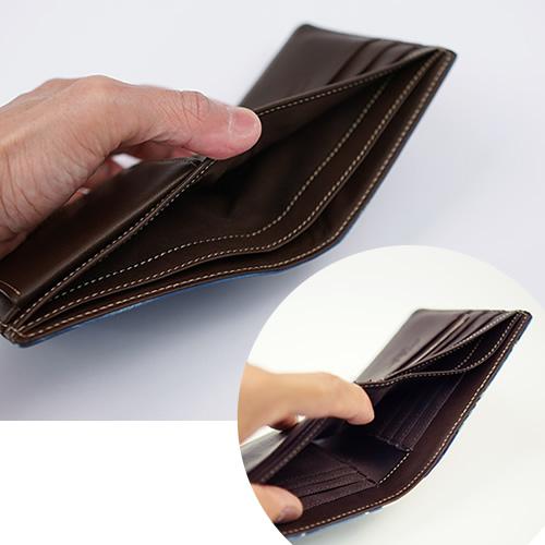 【アインソフ Ain Soph 財布】 レディース 財布 メンズ ミニ財布 本革 二つ折り財布 革財布 小さい財布 藍染 「DA1036 - BLA」