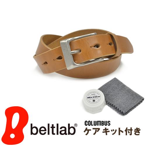 【送料無料 ベルト 日本製 栃木レザー】『 Nippon de Handmade ニッポンデハンドメイド 』 ケアセット シンプルなハーネスバックル こだわり栃木レザー 職人さんにひと手間お願いした 変わっていくを楽しむ 革 本革 カジュアルベルト メンズ レディース 本革ベルト