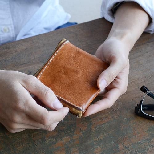 財布 メンズ レディース 日本製 栃木レザー 送料無料『 pot ポット 』牛革のナチュラルな素材感をハンドメイド。気軽に使える長財布でも二つ折りでもない コンパクトな本革財布。メンズ/レディース/牛革財布 小銭入れ/コインケース/さいふ/サイフ/ギフト/BL-PT-0015【U】