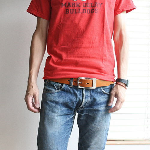 【送料無料 ベルト 日本製 栃木レザー】『 Nippon de Handmade ニッポンデハンドメイド 』真鍮ギャリソンバックル こだわり栃木レザー 職人さんにひと手間お願いした 変わっていくを楽しむ 革 本革 カジュアルベルト メンズ レディース 本革ベルト 牛革ベルト