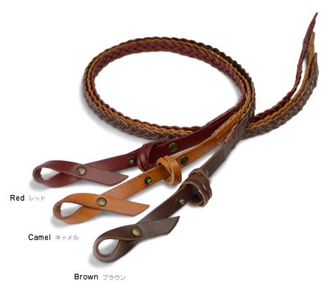 【メッシュベルト 本革】『tricote -トリコッテ-』バックルレスでとっても軽い編み込みメッシュ、レザーのリボンでアクセント。アクセ感覚で楽しくウエストマーク、革の素材感もしっかり味わえる細みの牛革メッシュベルト。レディース カジュアル