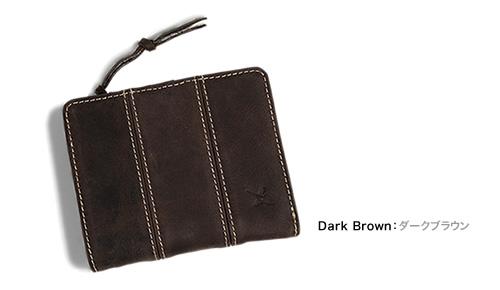 【アインソフ Ain Soph 二つ折り財布】なめらかな手触りの牛革に、ステッチが印象的。カード入れが豊富な二つ折り財布。使うほどに味が出るパラフィンレザーの素材感がたまらない。サイフ さいふ 財布 「DA1087-HP」