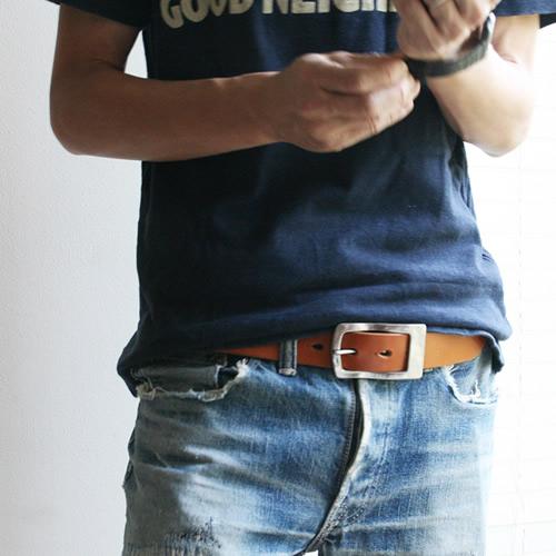 【送料無料 ベルト 日本製 栃木レザー】『 Nippon de Handmade ニッポンデハンドメイド 』ケアセット 真鍮ギャリソンバックル こだわり栃木レザー 職人さんにひと手間お願いした 変わっていくを楽しむ 革 本革 カジュアルベルト メンズ レディース 本革ベルト 牛革ベルト