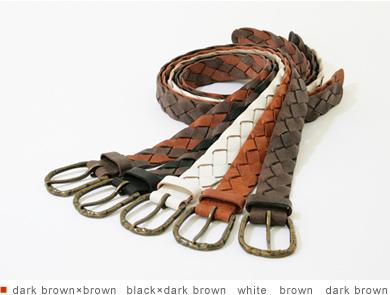 【メッシュベルト】【ベルト】『tricote -トリコッテ-』素材感のいいレザーを使用した、落ち着きあるビンテージ風メッシュベルト Belt
