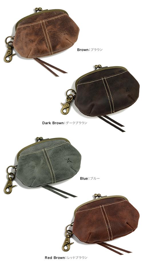 【アインソフ Ain Soph 財布 レディース】ふっくらやさしいデザイン、アンティークな雰囲気のがまぐち革財布。使うほどに味が出るパラフィンレザーの素材感がたまらない。「DA33-HP」 レディス レデイース ladies 女性用 サイフ さいふ