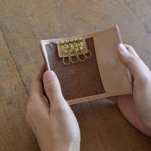 【キーケース 日本製 栃木レザー】『 pot ポット 』牛革 のナチュラルな素材感をハンドメイド、シンプルでベーシックなデザインの 本革 キーケース メンズ レディース 革 レザー 牛革 キーケース ギフト 【U】