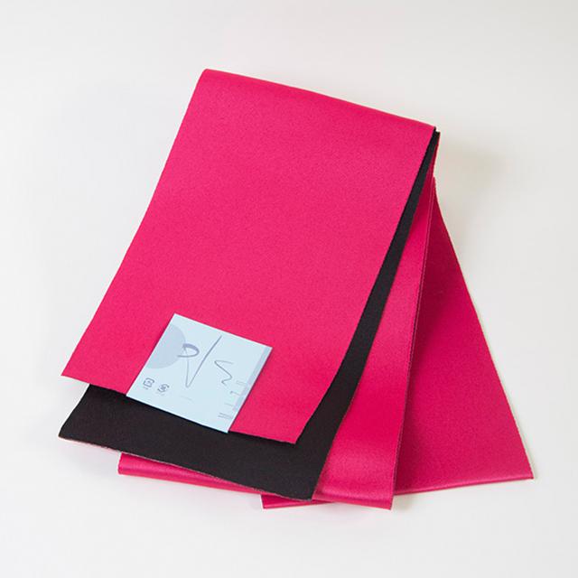 半幅帯/赤紫×ピンク