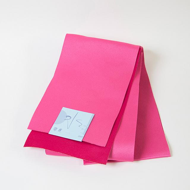 半幅帯/ピンク×赤
