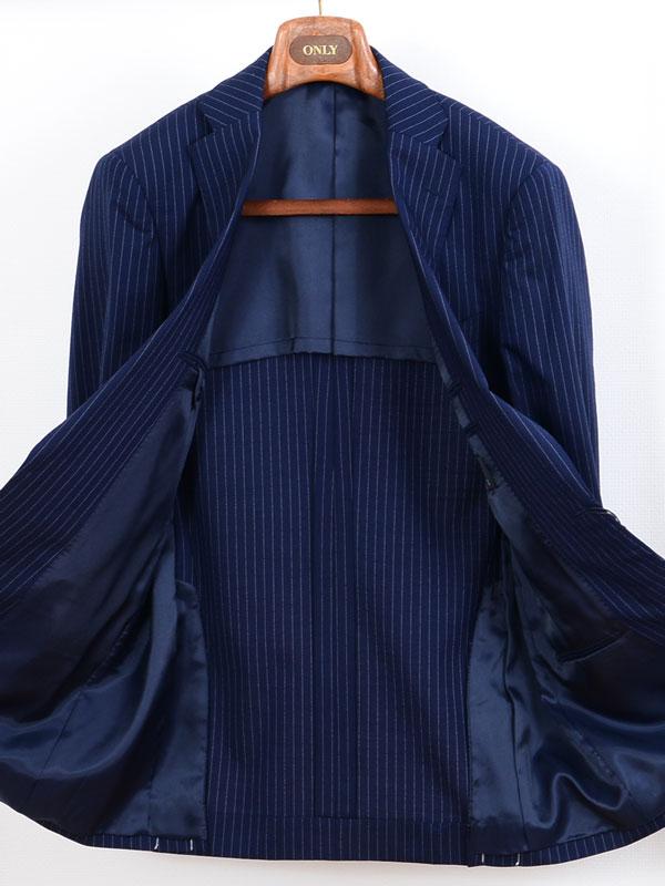 ≪WEB特価≫軽量ネイビーピンストライプスーツ