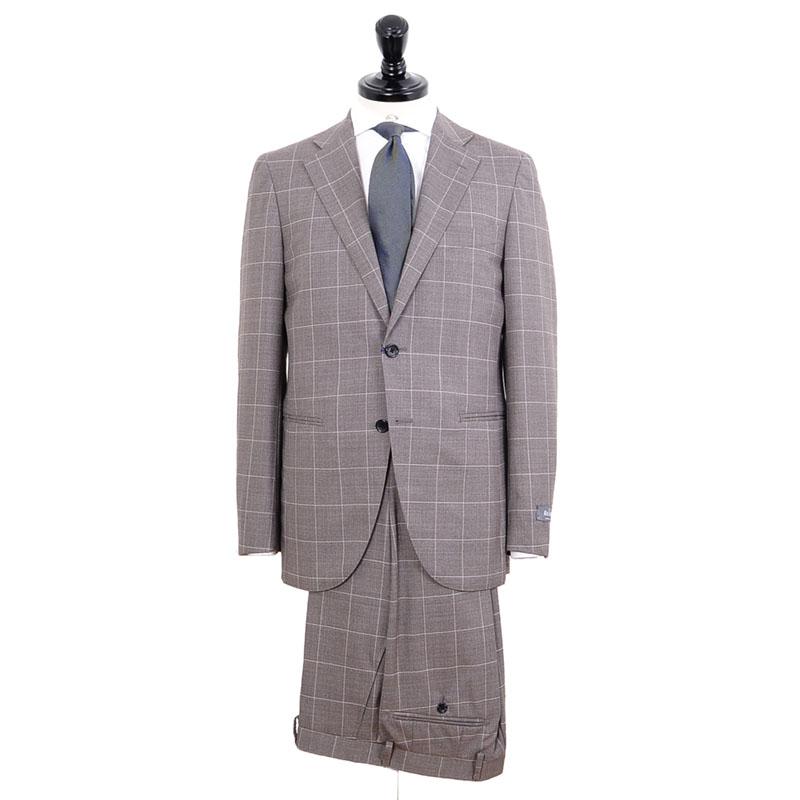 ≪WEB限定≫REDA(レダ)SP110'S/ブラウンウインドウペン柄スーツ