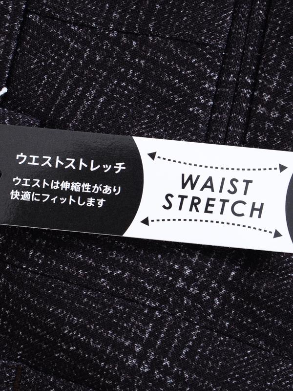 ≪WEB限定≫ヴィンテージチェックブラウン/新作ストレッチセットアップパンツ