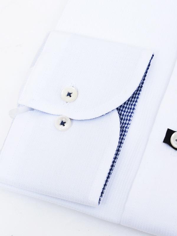 ≪よりどり5枚 5,000円≫形態安定/カラー裏地/自然ストレッチ/ホワイトシャツ