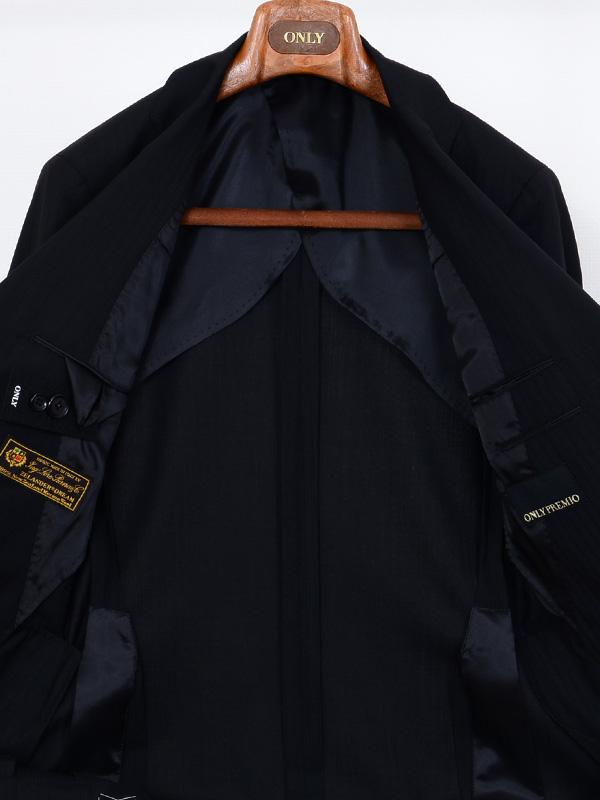 ≪WEB限定≫Loropiana(ロロピアーナ)メリノウール100%/Zelander Dream仕立て/ブラックシャドースーツ
