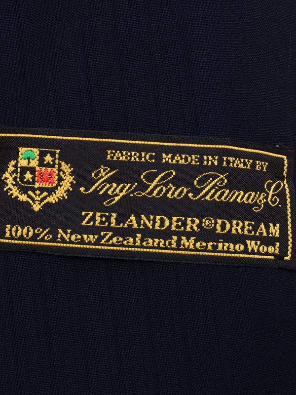 ≪WEB限定≫Loropiana(ロロピアーナ)メリノウール100%/Zelander Dream仕立て/ネイビーシャドースーツ
