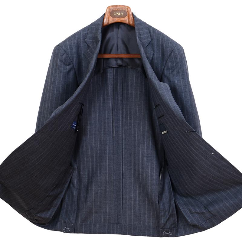 ≪WEB限定≫Zegna(ゼニア)ウール100%/グレーストライプ 最高級スーツ