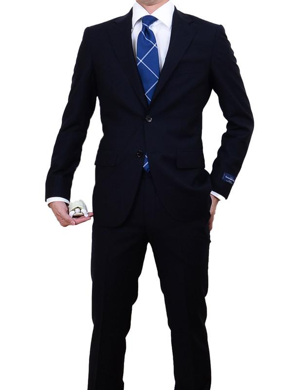 ≪WEB限定≫Zegna(ゼニア)極トロピカル/Superfine wool/クラシカル風ネイビースーツ