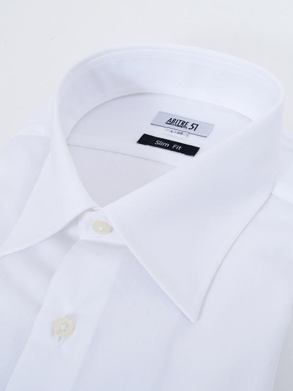 ≪よりどり3枚 3,900円≫形態安定/セミワイドカラー/定番ホワイト柄無地シャツ